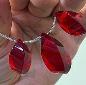 Тройка красных кварцев (лаб)