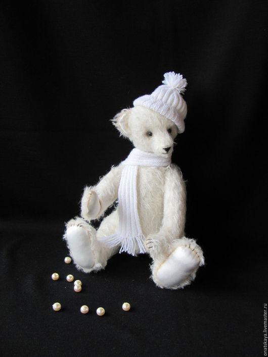 Мишки Тедди ручной работы. Ярмарка Мастеров - ручная работа. Купить Белый мишка Снежок. Handmade. Белый, teddy bear
