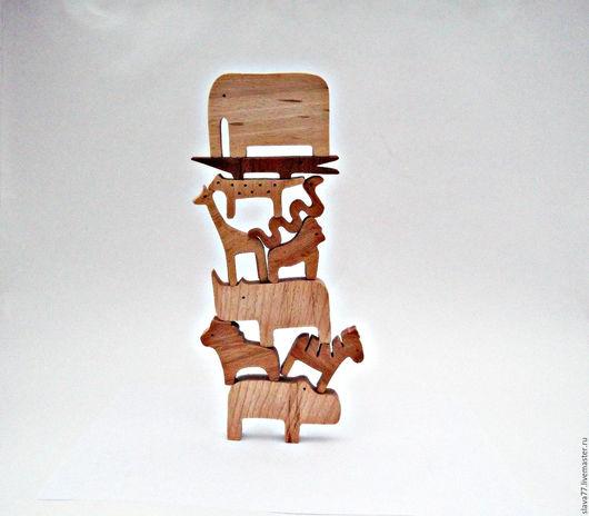 """Развивающие игрушки ручной работы. Ярмарка Мастеров - ручная работа. Купить Деревянный балансир""""Сафари"""". Handmade. Бежевый, деревянная игрушка, сафари"""