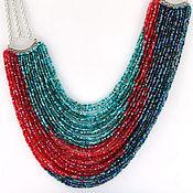 Украшения handmade. Livemaster - original item Sunset on the sea - necklace with beaded strands. Handmade.