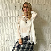Одежда ручной работы. Ярмарка Мастеров - ручная работа Блуза хлопковая WHITE. Handmade.