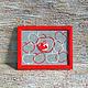 """Абстракция ручной работы. Ярмарка Мастеров - ручная работа. Купить Картина из серии """"Красные узоры"""". Handmade. Ярко-красный"""