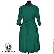 Одежда ручной работы. Ярмарка Мастеров - ручная работа Платье офисное тёплое из шерсти. Handmade.