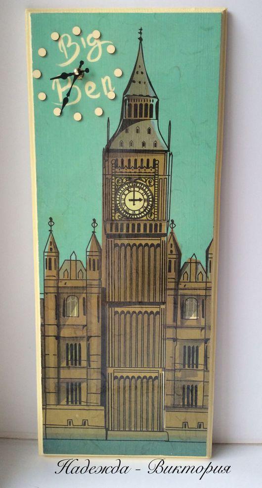 """Часы для дома ручной работы. Ярмарка Мастеров - ручная работа. Купить Часы настенные """"Big Ben"""". Handmade. Часы настенные"""