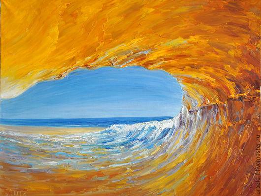 картина маслом Оранжевая волна