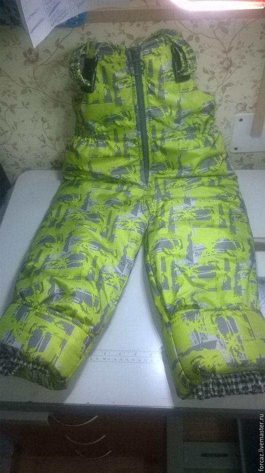 Одежда унисекс ручной работы. Ярмарка Мастеров - ручная работа. Купить Детский комбинезон зелёный. Handmade. Комбинированный, Плащёвка