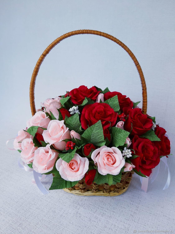 """Корзина роз с конфетами """"Гармония"""" подарок, презент, Букеты, Пушкино, Фото №1"""