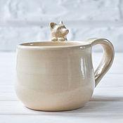 """Посуда ручной работы. Ярмарка Мастеров - ручная работа Чашка """"Лисёнок"""". Handmade."""