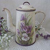 Посуда handmade. Livemaster - original item Spring tenderness-kettle. Handmade.