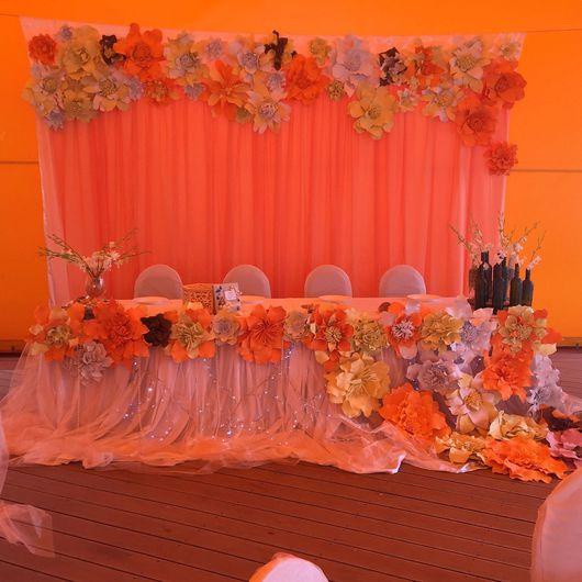 Свадебные цветы ручной работы. Ярмарка Мастеров - ручная работа. Купить Нежный персик с нотками моря. Handmade. Свадьба, дерево