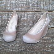 Обувь ручной работы. Ярмарка Мастеров - ручная работа Туфли на танкетке Moi je m`appelle Lolita. Handmade.