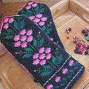 Аксессуары ручной работы. Ярмарка Мастеров - ручная работа Варежки вязаные женские с орнаментом Сладка ягода. Handmade.