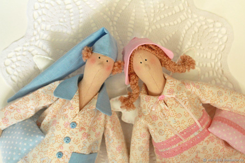 Сонный Ангел Тильда, Сплюшка, голубой розовый, Куклы Тильда, Коломна,  Фото №1