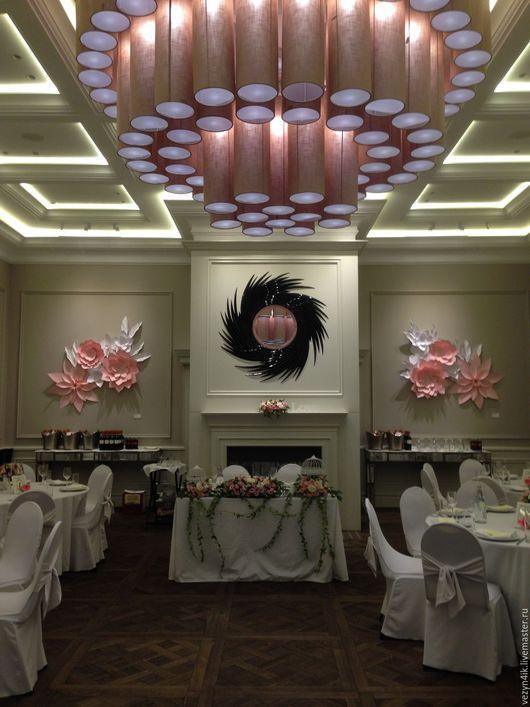 Свадебные цветы ручной работы. Ярмарка Мастеров - ручная работа. Купить Цветы из бумаги для декора стен. Handmade. Мятный цвет