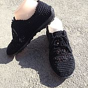Обувь ручной работы. Ярмарка Мастеров - ручная работа Вязаные мокасины. Handmade.