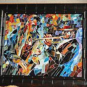"""Картины и панно ручной работы. Ярмарка Мастеров - ручная работа мозаика из стекла """"джаз"""". Handmade."""