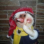 Куклы и игрушки ручной работы. Ярмарка Мастеров - ручная работа Кукла Снеговик. Handmade.