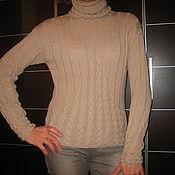 Одежда ручной работы. Ярмарка Мастеров - ручная работа бежевый свитер. Handmade.