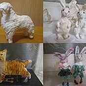 Подарки к праздникам ручной работы. Ярмарка Мастеров - ручная работа Елочные игрушки из ваты. .. Handmade.