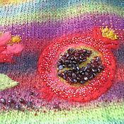 Одежда ручной работы. Ярмарка Мастеров - ручная работа Наршараб- туника жилет чистая шерсть аппликация бисер природный гранат. Handmade.