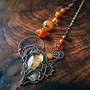 """Украшения ручной работы. Ярмарка Мастеров - ручная работа """"Lemonwood"""" Серебряное ожерелье. Handmade."""