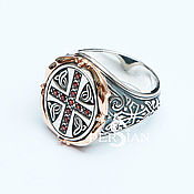 Украшения handmade. Livemaster - original item Silver ring with grenades. Handmade.