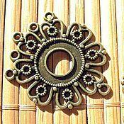 Коннекторы ручной работы. Ярмарка Мастеров - ручная работа Коннектор, цветок 35 х 29 мм. Handmade.