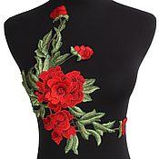 Материалы для творчества handmade. Livemaster - original item Unmatched 3D embroidery, applique, Faina. Handmade.