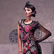 """Одежда ручной работы. Ярмарка Мастеров - ручная работа Платье крючком из микрофибры  """"Коко"""", ручная работа. Handmade."""