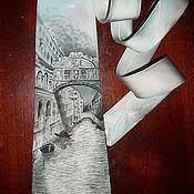 """Аксессуары ручной работы. Ярмарка Мастеров - ручная работа Галстук """"Мост вздохов. Венеция"""". Handmade."""