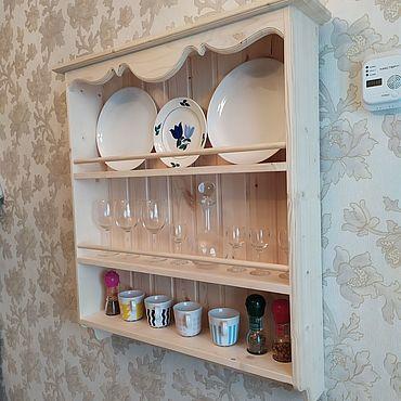 Мебель ручной работы. Ярмарка Мастеров - ручная работа Полки: полка для тарелок. Handmade.
