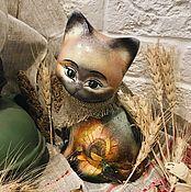 Для дома и интерьера handmade. Livemaster - original item Western cat (ceramic). Handmade.