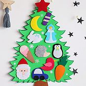 Подарки к праздникам handmade. Livemaster - original item Christmas tree from felt