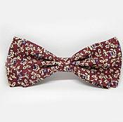 Аксессуары handmade. Livemaster - original item Bow tie Burgundy with beige flowers and purple berries. Handmade.