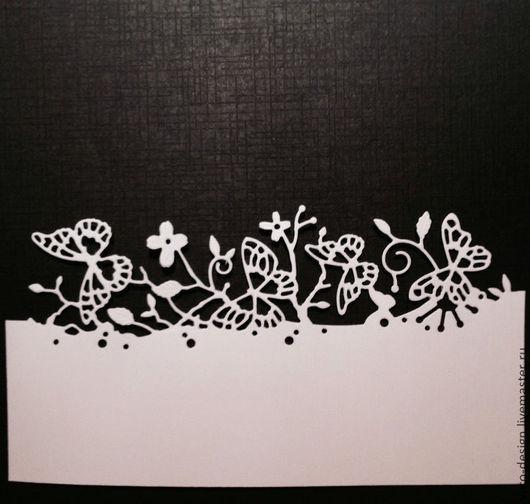 Открытки и скрапбукинг ручной работы. Ярмарка Мастеров - ручная работа. Купить Вырубка для скрапбукинга Бордюр с бабочками.. Handmade. Бордюр