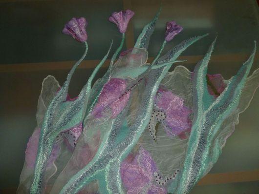 Шарфы и шарфики ручной работы. Ярмарка Мастеров - ручная работа. Купить Валяный шарф Травы и цветы. Handmade. Мятный