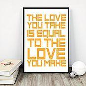 Дизайн и реклама ручной работы. Ярмарка Мастеров - ручная работа Постер Love. Handmade.