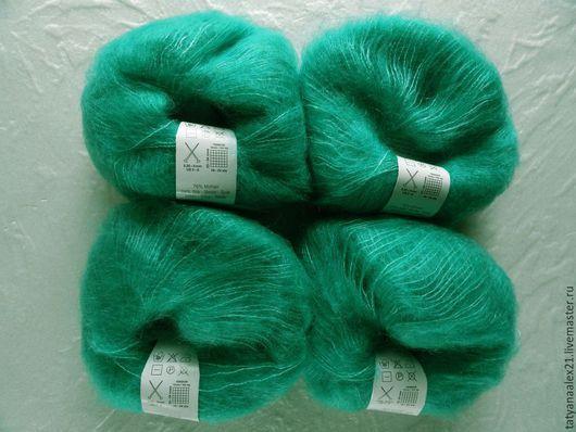 Вязание ручной работы. Ярмарка Мастеров - ручная работа. Купить Пряжа Debbie Bliss Angel 42  Emerald. Handmade.