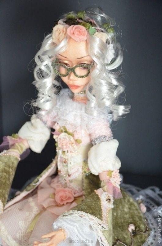 """Коллекционные куклы ручной работы. Ярмарка Мастеров - ручная работа. Купить интерьерная кукла """"Алиса"""". Handmade. Бледно-розовый"""