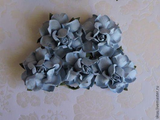 Открытки и скрапбукинг ручной работы. Ярмарка Мастеров - ручная работа. Купить Розы 3,75 см голубые 1 штука. Handmade.