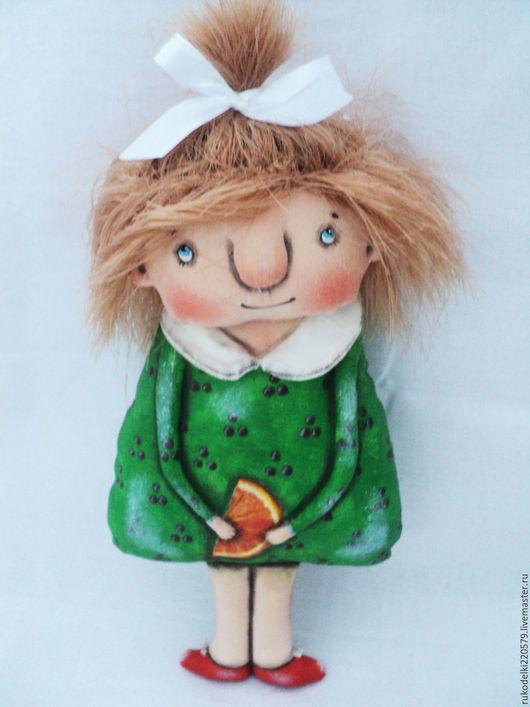 Текстильная кукла Апельсинка.