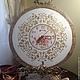 Часы для дома ручной работы. Ярмарка Мастеров - ручная работа. Купить Настенные часы Розы в белом поталь. Handmade. Белый