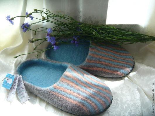 Обувь ручной работы. Ярмарка Мастеров - ручная работа. Купить Тапочки валяные мужские. Handmade. Коричневый, тапочки мужские