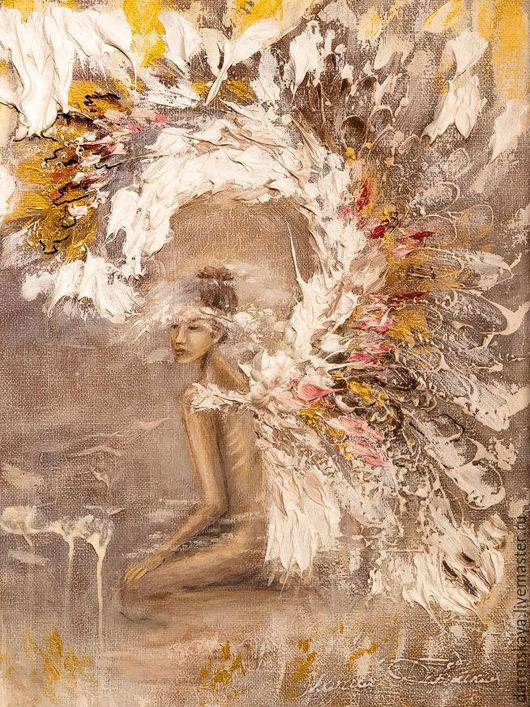 Картина `Ангел` в пастельных тонах. Художник - Maria Darenskaya.
