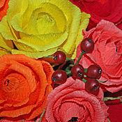 """Цветы и флористика ручной работы. Ярмарка Мастеров - ручная работа """"Осенний вечер"""" Букет из конфет. Handmade."""