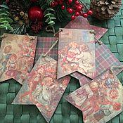 Подарки к праздникам ручной работы. Ярмарка Мастеров - ручная работа флажки- гирлянда. Handmade.