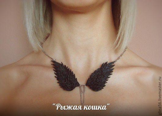 """Колье, бусы ручной работы. Ярмарка Мастеров - ручная работа. Купить Колье """"Чёрный Ангел """". Handmade. Черный"""