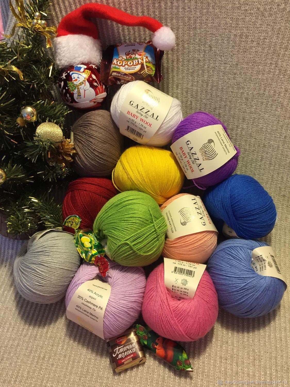 Пряжа Gazzal Baby Wool ( Газзал бэби вул) 50 грамм 175 метров , 40% мериносовая шерсть,20 % кашемир, 40% акрил