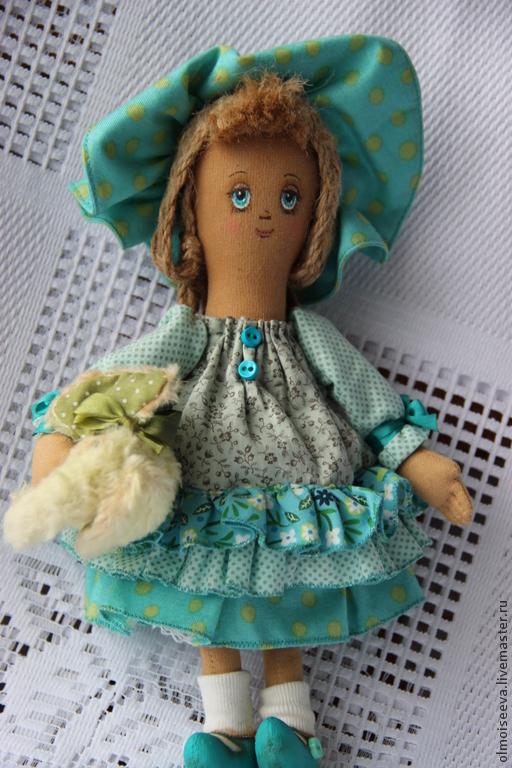 """Ароматизированные куклы ручной работы. Ярмарка Мастеров - ручная работа. Купить Асенька ( куколка из серии"""" Детство""""). Handmade. Бирюзовый"""