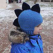 Работы для детей, ручной работы. Ярмарка Мастеров - ручная работа Шапка-шлем «Дракон». Handmade.